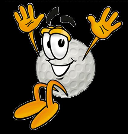 Welcoming golfball             character